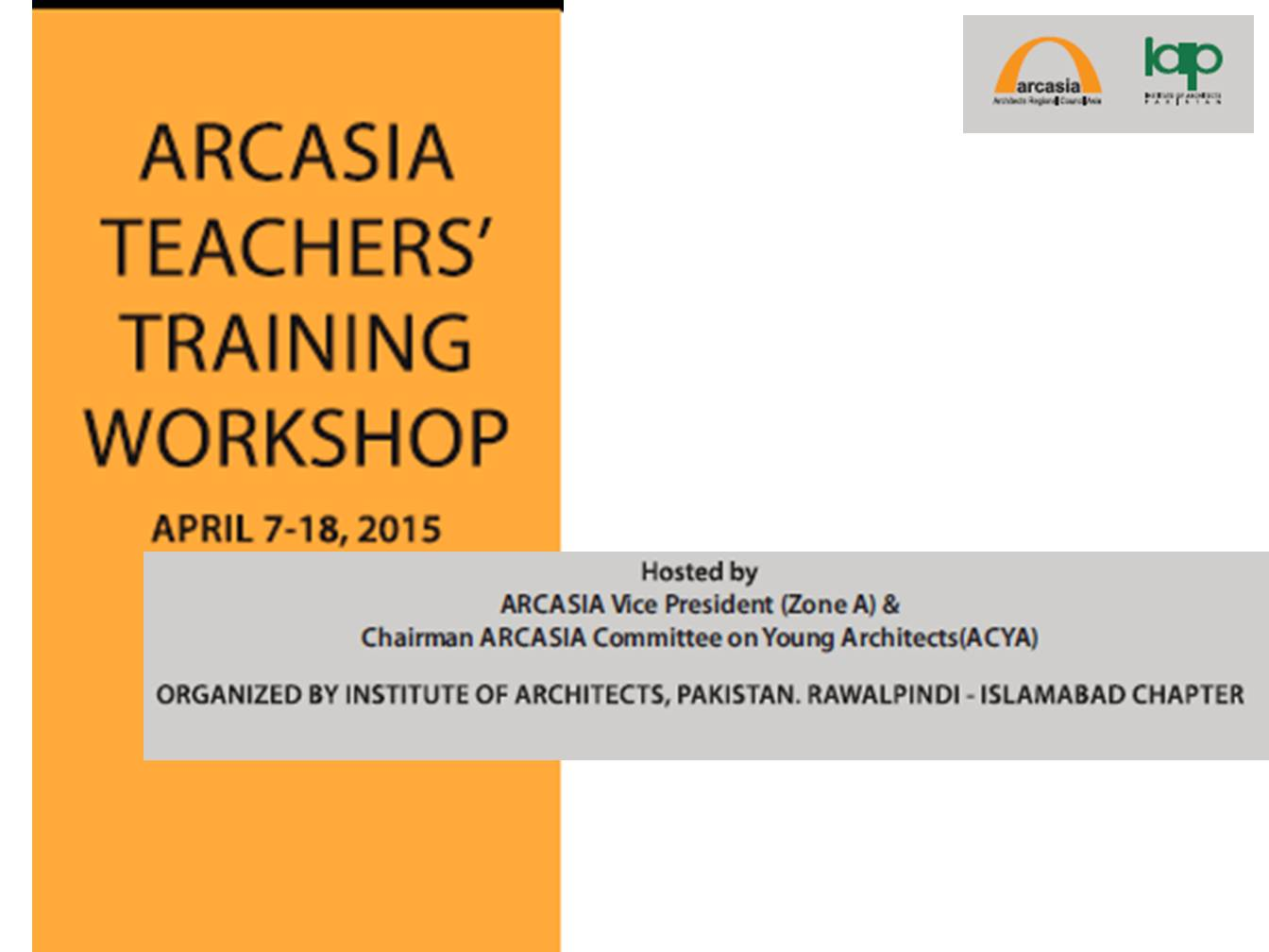ARCASIA Teachers' Training Workshop